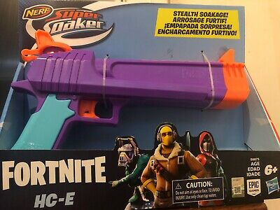 In Hand! Nerf Fortnite HC-E Super Soaker Toy Water Blaster New