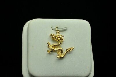Dazzling 14K Yellow Gold Chinese Dragon Charm Gold-813