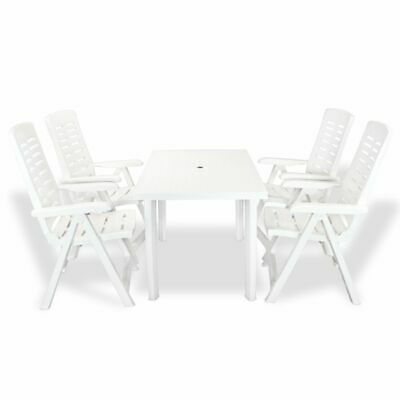 VIDAXL Jardin Plastique TABLE 101x68x72 Blanc à cm Table DE fv6YIbgm7y