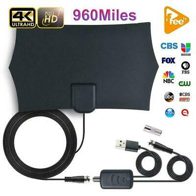 [960 Miles] Indoor Digital TV HDTV Antenna Aerial Signal Receiver FM/VHF/UHF 4K