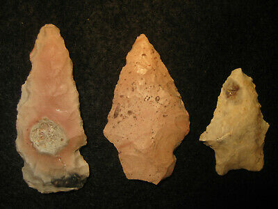 Authentic Oklahoma Missouri Prehistoric Arrowheads, Archaic Indian Artifacts OM1