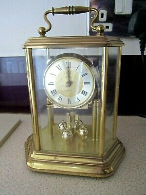 Beautiful Acctim,Germany Brass/Glass Large Mantel Clock,Repair Only