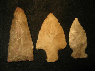 Authentic Oklahoma Missouri Prehistoric Arrowheads Archaic Indian Artifacts #OM3