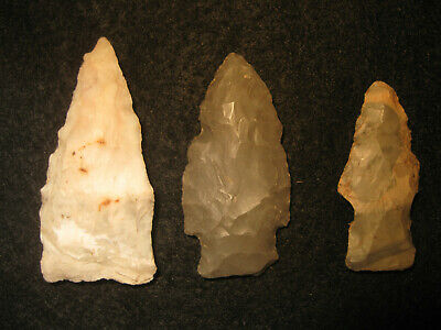 Authentic Oklahoma Missouri Prehistoric Arrowheads Archaic Indian Artifacts #OM4