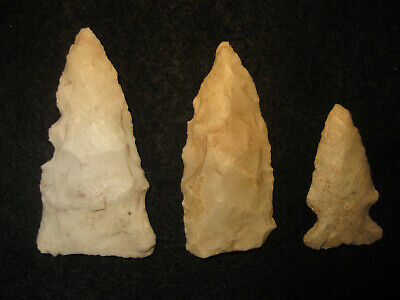 Authentic Oklahoma Missouri Prehistoric Arrowheads Archaic Indian Artifacts #OM6