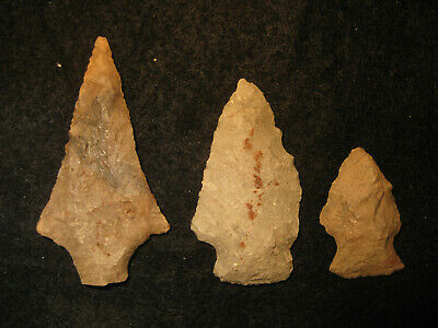 Authentic Oklahoma Missouri Prehistoric Arrowheads Archaic Indian Artifacts #OM7
