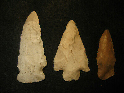 Authentic Oklahoma Missouri Prehistoric Arrowheads Archaic Indian Artifacts OM10