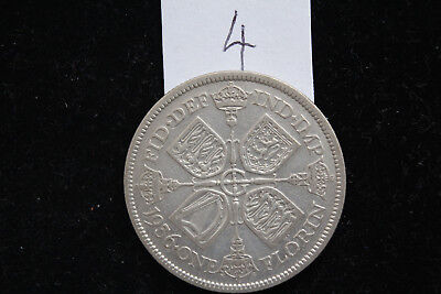 1936 King George V - SILVER FLORIN TWO SHILLING COIN .500 Silver