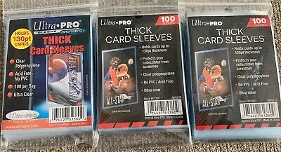 300 Ultra Pro Thick 130pt Penny Card Sleeves Brand New Acid Free No PVC