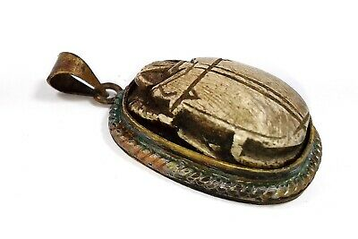 Egyptian Antiques Amulet Pendant Stone Magical Protection Scarab Beetle