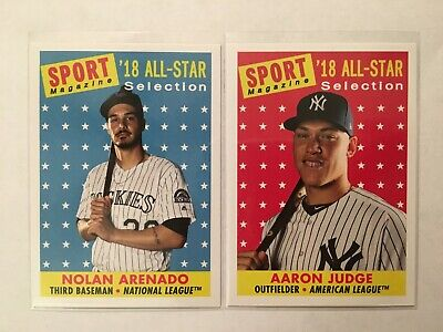 2019 Topps Archives 1958 Sport Magazine All-Star SP Lot (2) #301 JUDGE, #307