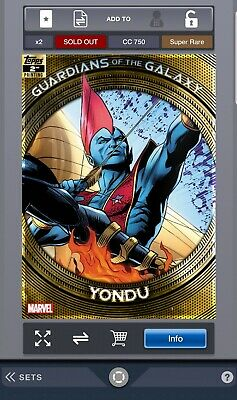 Topps Marvel Collect - Guardians of the Galaxy  2nd Printing - Yondu(Digital)