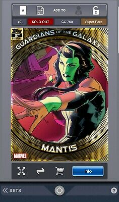 Topps Marvel Collect - Guardians of the Galaxy  2nd Printing - Mantis(Digital)