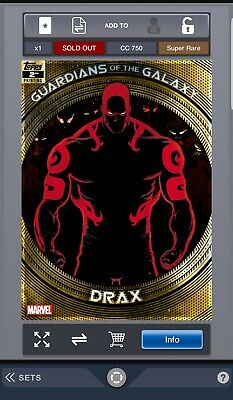 Topps Marvel Collect - Guardians of the Galaxy  2nd Printing - Drax(Digital)