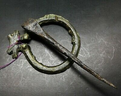 Roman Bronze Omega Broach with Iron Pin Religious 1st-4th Century AD