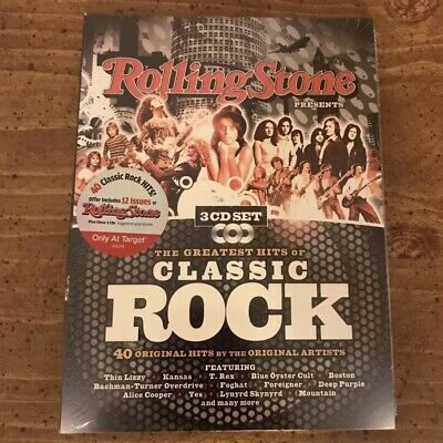 Rolling Stone Presents Greatest Hits of Classic Rock CD 3 Disc Set SEALED