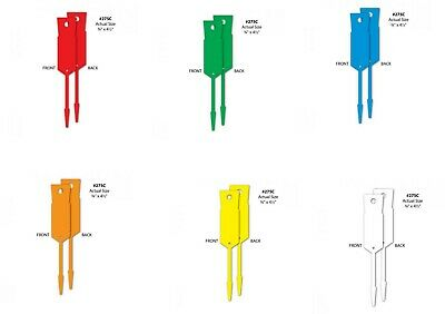 Disposable Plastic Key Tags x pack of 1000 pcs In 6 colours WHITE $25