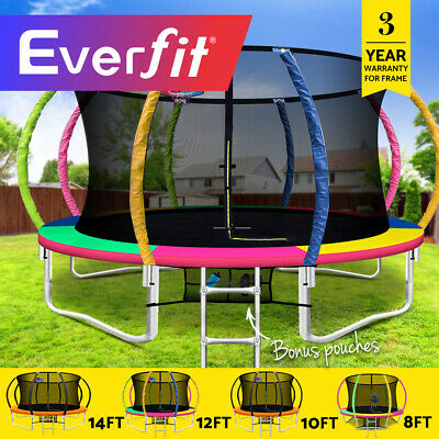 Everfit 8/10/12/14FT Trampoline Round Trampolines Basketball set Kids Gift