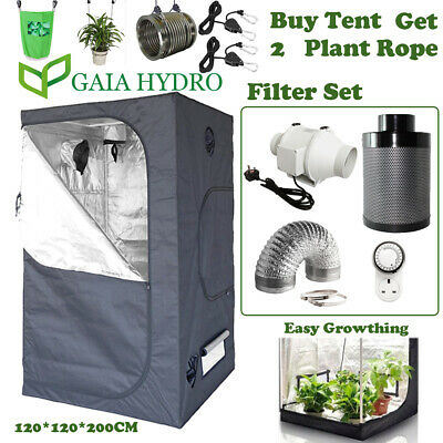 Fan Carbon Air Filter&Duct Kit Hydroponic Plant Grow Dark Room Tent Ventilation