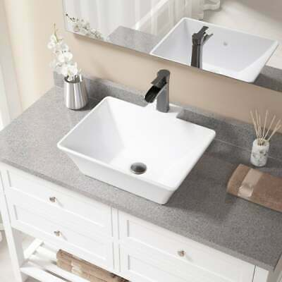 V290 White Porcelain and Antique Bronze Pop-up Drain Sink