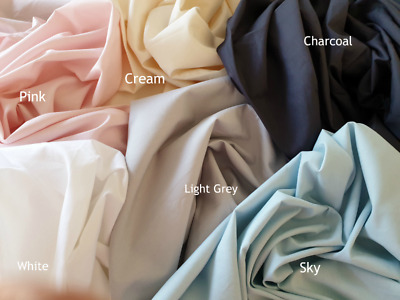 Cot Flat Sheet  - assorted sizes - assorted colours - 100% cotton