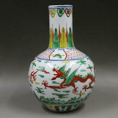 Chinese ancient antique hand make Dragon pattern vase  a725