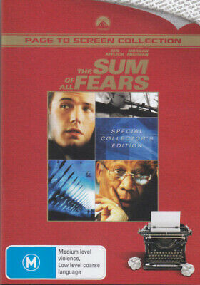 The Sum Of All Fears (Special Collector's Edition) (2002) [New Dvd]