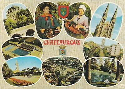 carte postale   france      chateauroux   folklore