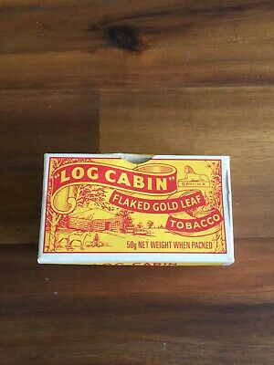 Log Cabin - Flaked Gold Leaf Fine Cut Tobacco Pack (Card) (Empty)