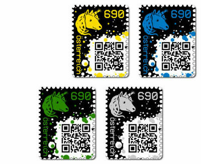 Crypto Stamps - SET - 1x Yellow, 1x BLUE, 1x GREEN, 1x BLACK