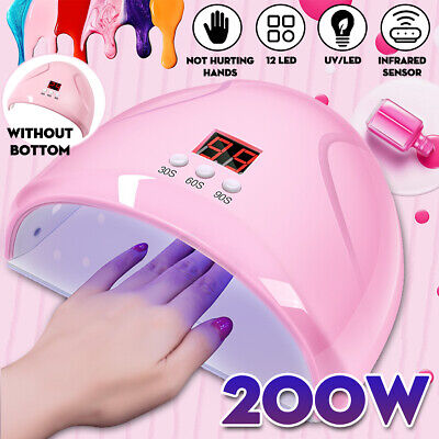 LED Nail Dryer UV Lamp Gel Nail Polish Fast Curing Light Timer Sensor Manicure