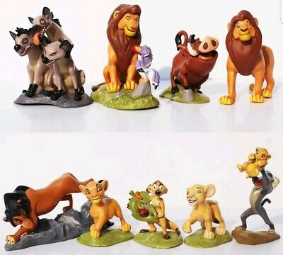 IL RE LEONE SET 9 PERSONAGGI FIGURE STATUETTE torta action disney timon Simba