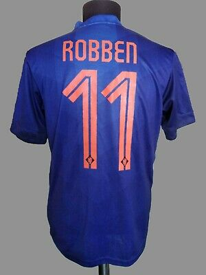 newest 8e297 311a7 ARJEN ROBBEN JERSEY Nike Football Netherlands Away Shirt Soccer Holland  SizeM