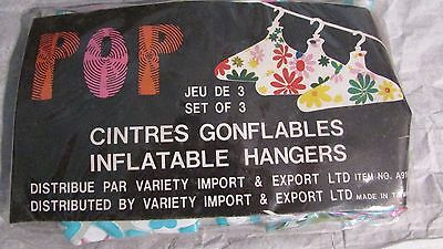Vintage Flower Power Pop Art Inflatable Hangers Set Of 3 Mint In Pack