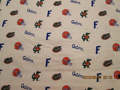 UNIVERSITY OF FLORIDA HTF 1 YARD 100/% COTTON GATOR  NEW DESIGN  ORANGE