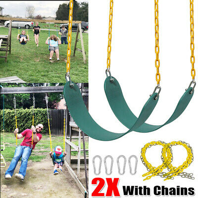2 Pack Heavy Duty Swing Seat Swing Set Accessories Chains &Hooks Replacement