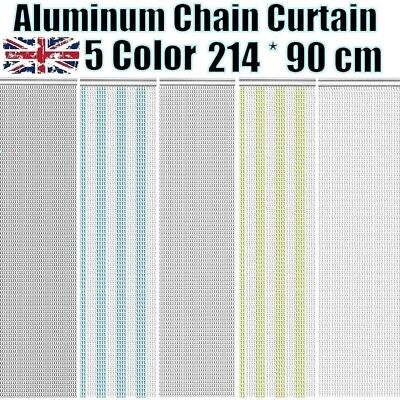 214x90CM Metal Aluminium Chain Link Fly Pest Control Blinds Screen Door Curtain