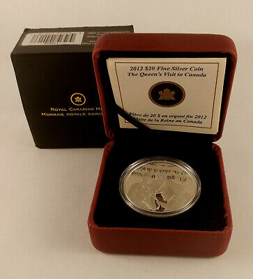 2012 CANADA $20 Queen's Visit to Canada Diamond Jubilee Fine Silver Proof Coin