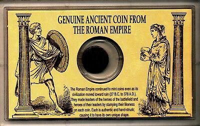 Genuine ANCIENT COIN From The ROMAN EMPIRE In Plastic Display Case