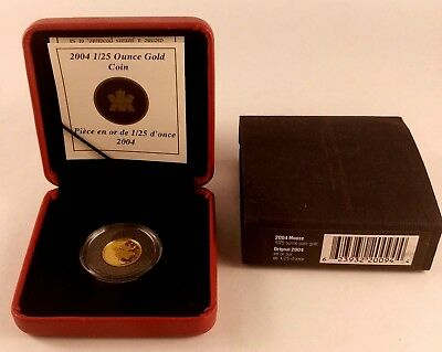 2004 CANADA 50 Cents 1/25 oz Moose Proof Fine Gold Coin