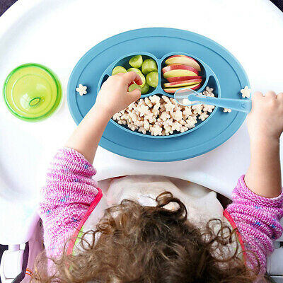 Cute Silicone Bowl Mat Baby Kids Food Mat Suction Table Food Tray Placemat Plate