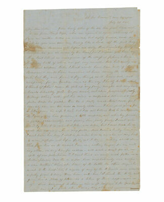 Long 1861 Civil War Letter by Capt. P. Reamey, 24th Virginia, After 1st Manassas
