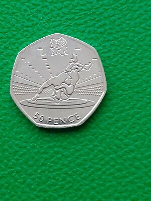 Wrestling Olympic 50p Fifty Pence Coin 2011