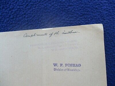 1897 Lindgren,Founder Geologist, Signed (Came from Smithsonian Library) Booklet!