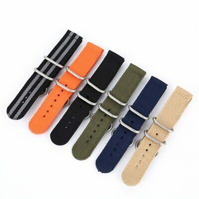 Wrist Watch Bands Strap Bracelet Trendy Canvas Fabric Buckle 18mm 20mm 22mm 24mm