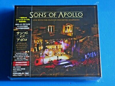 2019 Japan 3 Cd Set Digipak Sons Of Apollo Live The Plovdiv Psychotic Symphony