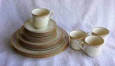 Lenox Bellaire 20 PC China Set 4 Dinner 4 Salad 4 Bread Plates 4 Saucers 4 Cups