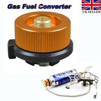 Camping Burner Cartridge Gas Fuel Canister Stove Cans Tank Adapter ConverterTFSU