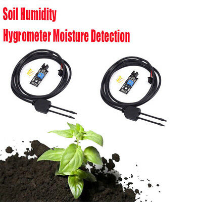 2x Soil Humidity Hygrometer Moisture Detection Sensor with Wire for Arduino