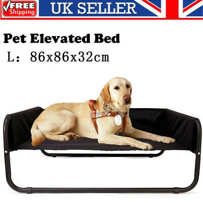 Large Elevated Dog Pet Bed Portable Waterproof Outdoor Raised Camping Basket UK